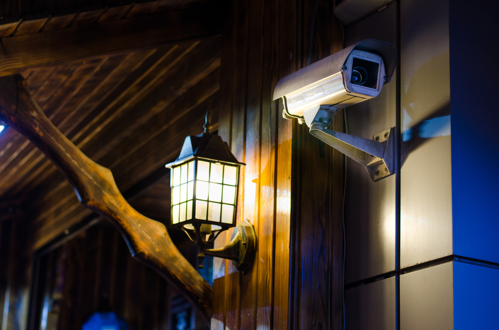 Security camera on a small house