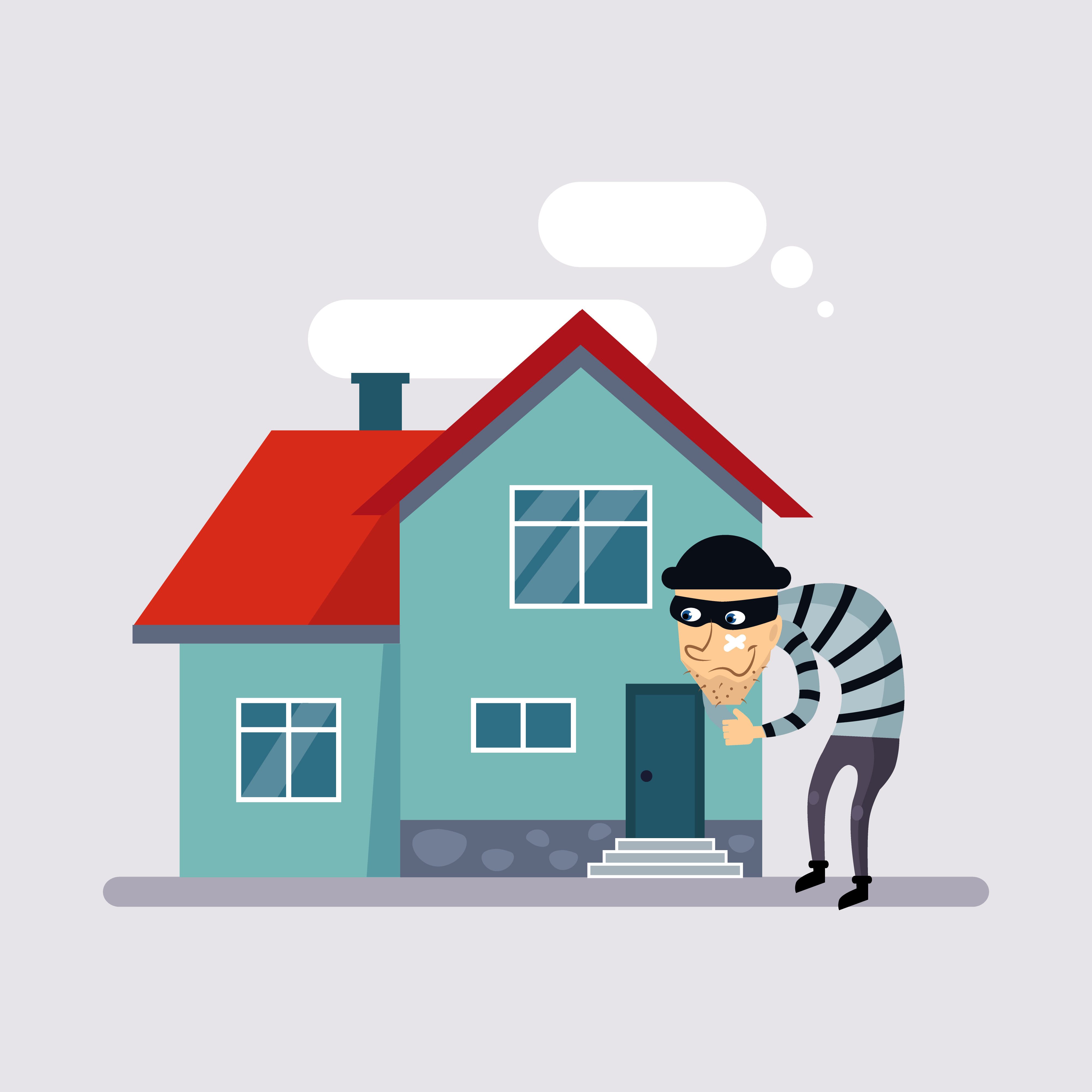 Burglar singling house out